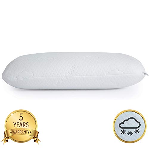 Modvel Luxury Reversible Cool Gel & Memory Foam Pillow Orthopedic Neck & Back Support For A Relaxed Sleeping Experience   Medium-Plush Feel, 2 Washable Cover. (MV-122-N)