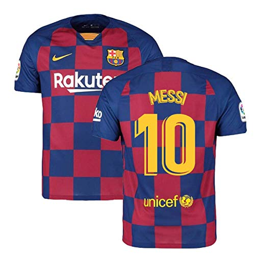 2019-2020 Barcelona Home Nike Football Soccer T-Shirt Trikot (Lionel Messi 10)