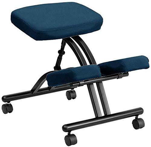 QXF-D DZ Silla Ergonómica Ergonómica Ajustable de Rodillas sin Respaldo, para Hogar/Oficina/Meditación Ruedas