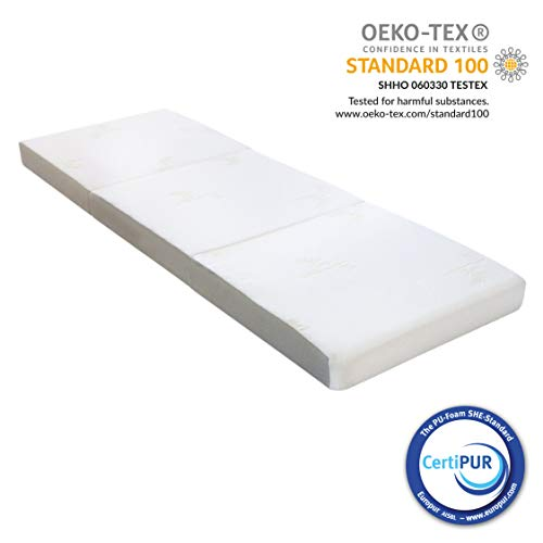 Milliard 10cm Thick Tri Folding Mattress with Ultra Soft Removable Cover with Non-Slip Bottom – Small Single(190cm X 75cm)