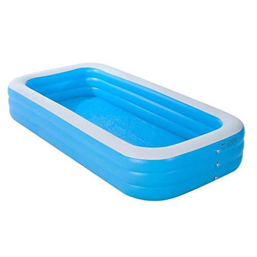 Piscina Inflable Gruesa Segura Verano Fiesta de Agua para Bebés Niños Adultos Piscinas Grandes para Familia,365CM
