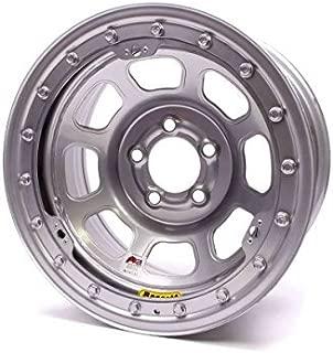 Bassett Wheels 58DC2ISL Silver IMCA D-Hole Beadlock Wheel Size: 15