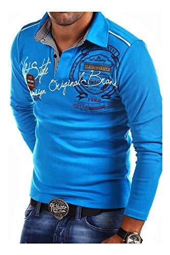 MT Styles Langarm Poloshirt Ambition T-Shirt R-0682 [Türkis, L]