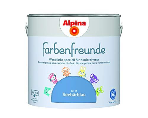 Alpina Farbenfreunde 2,5L Kinderzimmerfarbe Wandfarbe (Nr.12Seebärblau)