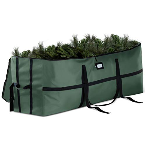 Extra Wide Opening Christmas Tree Storage Bag - Fits Up To 7.5 ft. Tall Artificial Disassembled Trees, Durable Straps & Reinforced Handles - Holiday Xmas, 600D Oxford Duffle Bag - 5 Year Warranty