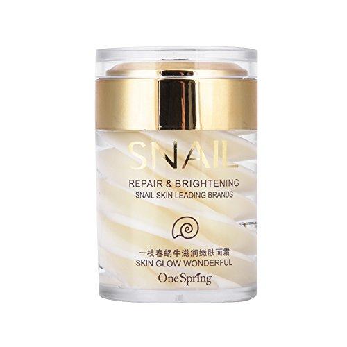 Schneckencreme, Snail Face Cream Natürliche Sekrete Schleim Extrakt Gesichts Serum Gel für Anti...