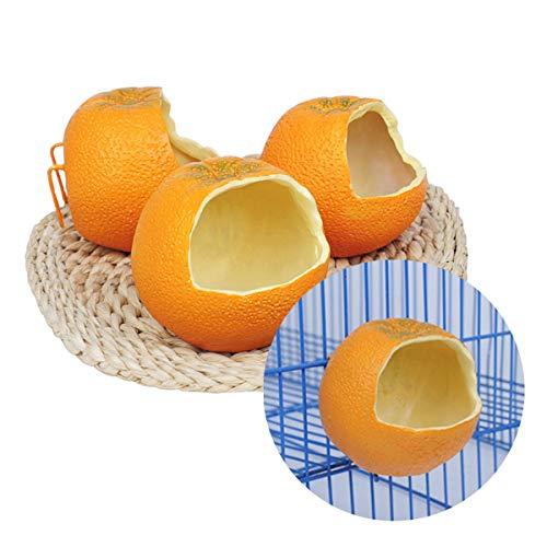 Tianhaik oranje vorm voederkom voor vogel, opknoping voedsel water containers voor papegaaien mussen ijsvogels voeden