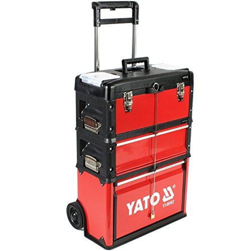 Werkzeug-Trolley mit 3 Modulen YT-09102