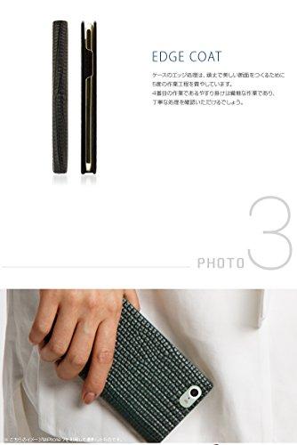 SLG Design iPhone XS/X ケース 手帳型 本革 Lizard Case ブラック(リザードケース)アイフォン カバー レザー 5.8インチ【日本正規代理店品】 SD10529i8