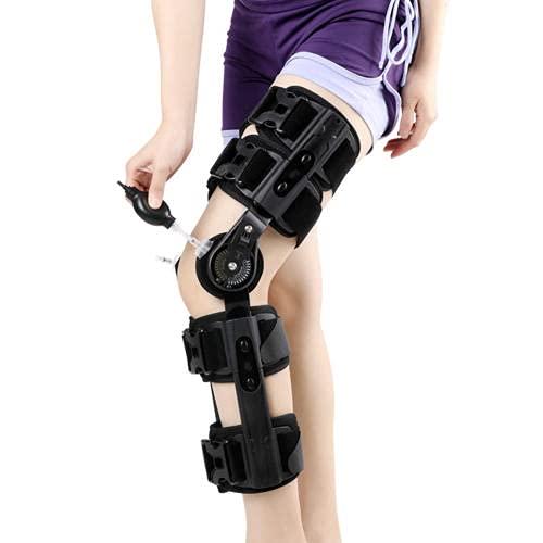 Nofpjqj Ortesis de Rodilla, Tobillo y pie con bisagras, Rodillera ortopédica Ajustable con bisagras, ortesis de abducción para Pierna Izquierda o Pierna Derecha