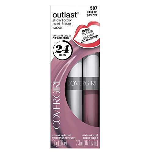 COVERGIRL Outlast All-Day Moisturizing Lip Color Pink Pearl 587, .13 oz, Old Version (packaging may vary) Cover Girl Outlast All Day Lip Color