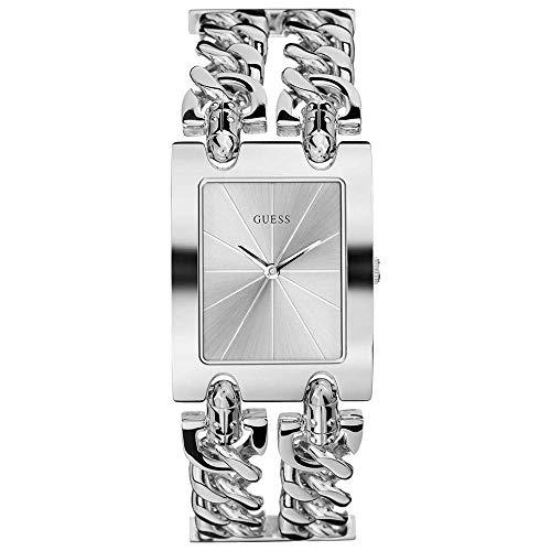 Guess Damen Analog Uhr Heavy Metal mit Edelstahl Armband