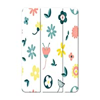 Sepikey iPad Air 1/iPad Air 保護カバー,PC + PU 耐落下性 三段角度調節 防塵 傷防止 3つ折り スタンド機能付き プロテクターカバー iPad Air 1/iPad Air Case-花4