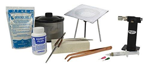 Basic Soldering Starter Kit w/ 16 Oz Pickle Pot Tweezers Micro Flame Torch Precious Metal Working Welding Jewelry Tool