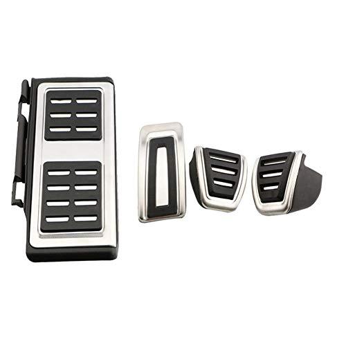LYSHUI Cubierta Auto del Pedal de los Pedales del Coche del Acero Inoxidable, para Volkswagen VW Golf GTI Passat B8 Polo A05 6C GP