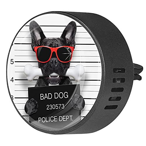 Car Diffuser for Essential Oil Vent Clips,French bulldog ,2 Packs 40mm Aromatherapy air fresheners