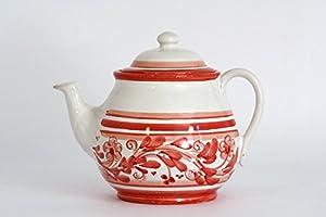 Teekanne aus Keramik von Caltagirone