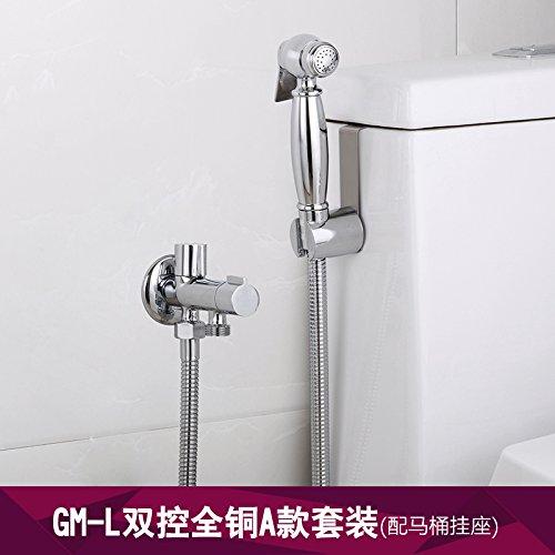 GFEI angle de cuivre toilettes pistolet pleinement mis sous pression soupape,un