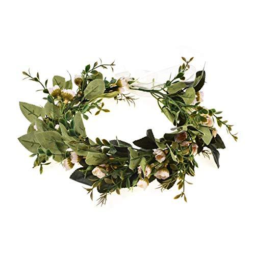 Ever Fairy Blumen Mädchen Blumenkrone Damen Haarband Blumenkranz Haare für Frauen Hochzeit Party