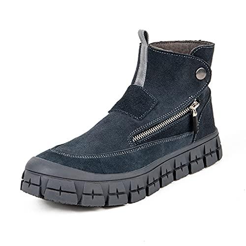 Zapatos de Trabajo 2021 Soldador de Cuero de Gamuza Ligero Soldadura Botas de Seguridad, Mujeres Hombres Toe de Acero Toe PUNTURA Prueba Prueba Casual Trabajo Zapatos INDUSTRIALES (Color : 38)