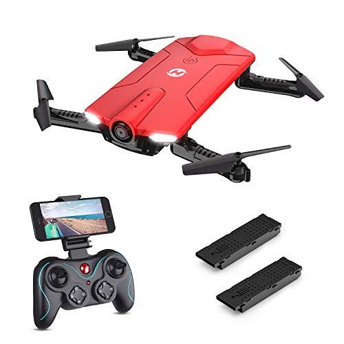 Holy Stone HS160R Faltbare Mini Drohne mit Kamera HD, RC Quadrocopter, Helikopter Ferngesteuert mit FPV 720P Kamera, Live-Video, APP Steuerung Indoor Ourdoor für Kinder und Erwachsene
