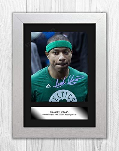 Good With Wood Yorkshire Isaiah Thomas (1) NBA Denver Nuggets Riproduzione Autografo Poster Foto A4 (cornice bianca)