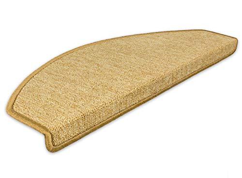 Kettelservice-Metzker Stufenmatten Treppen-Teppich Rambo 15er SparSet 17 Farben incl. Fleckentferner (Mais)