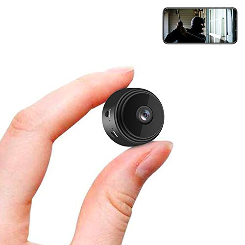 YAMASU Mini Camera Wireless WiFi Hidden Cameras 1080P HD Portable Home Small Camera with Night Vision and Motion Detection, Indoor Outdoor Security Tiny Nanny Cam with Monitor Phone App