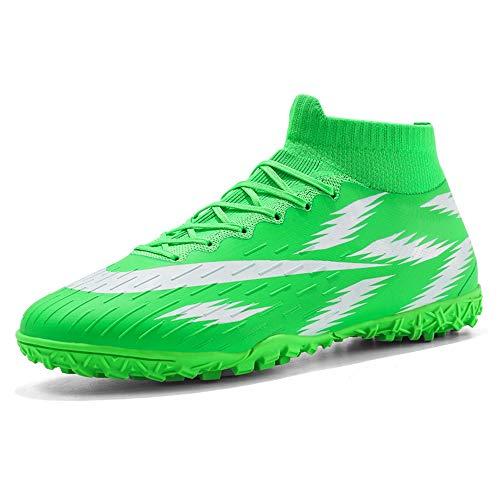 Botas de fútbol Zapatos de fútbol para niñas y niños Zapatillas de fútbol Transpirables Zapatos de Hombre de uñas largas 46 Verde2