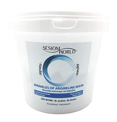 Sesiomworld Mascarilla Profesional Alginatos con Extracto de Argireline (Efecto Botox) Facial 100% Natural 1 Unidad 390 g