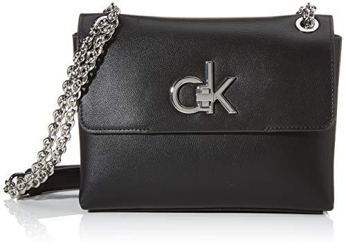 Calvin Klein Re-lock Conv Crossbody Md - Borse a tracolla Donna, Nero...