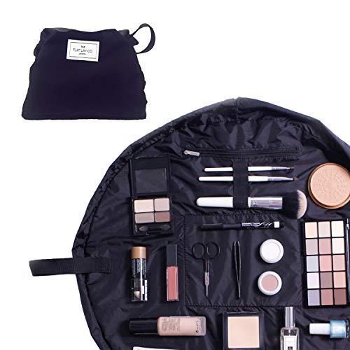 Trousse /à maquillage Contenu non inclus noir noir classique 50 cm Trousse de toilette pour produits cosm/étiques aspect coque The Flat Lay Co