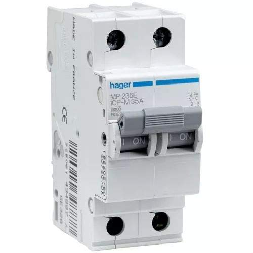 Hager serie mp-e - Interruptor magnetico bipolar 25a curva icp-m