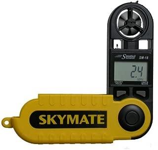 WeatherHawk SM-18 SkyMate Hand-Held Wind Meter, Yellow by Speedtech Instruments