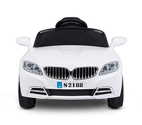 LT861 Coche eléctrico para niños Crazy puertas automáticas y 3 velocidades (Blanco)