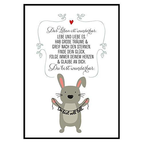 SMART ART Kunstdrucke® Wandbild Du bist toll A4 oder A3 Poster Wand-Dekoration Geschenk-Idee Geburtstag Weihnachten