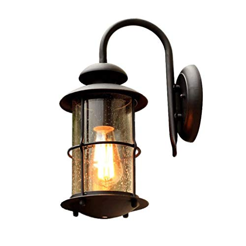 NXYJD Luz de Pared Exterior de Aluminio de la Pared Exterior de la Linterna, Vaso de Aluminio, de Pared Exterior del Accesorio Ligero del LED Claro Seedy Vidrio for casa Exterior Porche Patio