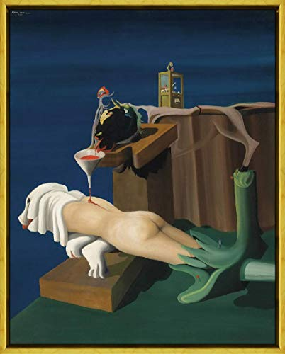 Berkin Arts Oscar Dominguez Marco Giclee Imprimir en Lienzo-Pinturas Famosas Arte Fino Póster-Reproducción Decoración de Pared Listo para Colgar(Máquina de Coser Electro Sexual) #XLK