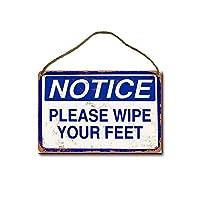 注意足を拭いてください木製のリストプラーク木の看板ぶら下げ木製絵画パーソナライズされた広告ヴィンテージウォールサイン装飾ポスターアートサイン