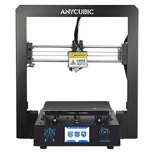 ANYCUBIC I3 Mega 3D imprimante Full Metal avec breveté UltraBase et 3,5 Pouces écran Tactile Grande Taille d'Impression 210 x 210 x 205mm, Fonctionne avec PLA, ABS, Hips, Bois