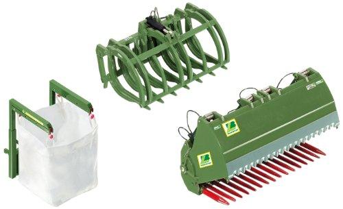 Wiking 7384 - voorlader gereedschap set B bressel en lade, groen