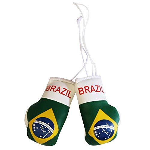 Brazilië Vlag Mini bokshandschoenen voor auto's of thuis