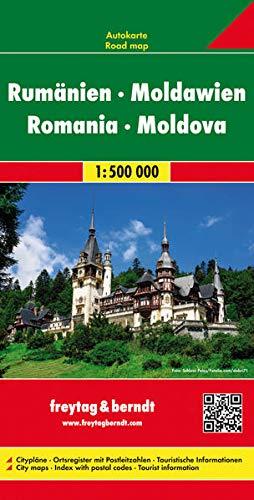 Preisvergleich Produktbild Rumänien - Moldawien,  Autokarte 1:500.000