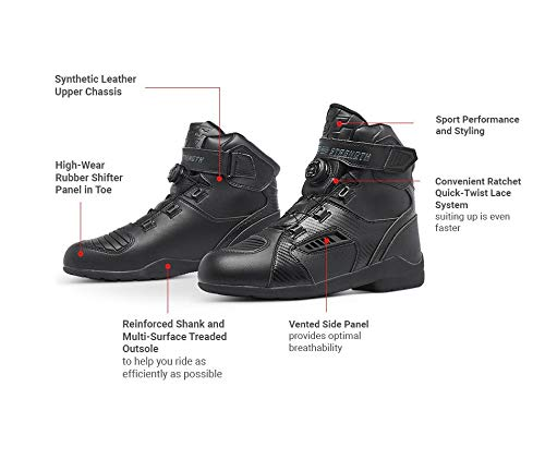 Speed and Strength Revolt Men's Street Motorcycle Boots - Black / 11