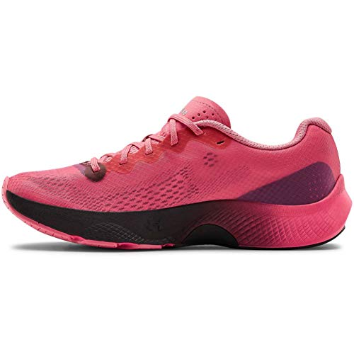 Under Armour Women's Charged Pulse Running Shoe, Pink Lemonade (602)/Blackout Purple, 9.5