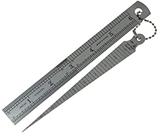 Dopro Stainless Welding Taper Gage 1-15mm Double Sided Ruler 1-15cm Inch/Metric Guitar