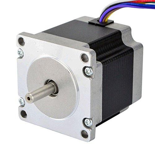 STEPPERONLINE Nema 23 Uni/Bipolar 1.8deg 1.26Nm 3A 57x56mm 8 fili per stampante 3D, fresatrice CNC