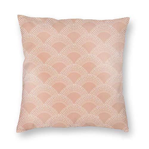 Elegante funda de cojín con diseño de sirena de color rosa con patrón de escamas de pez de terciopelo, suave, decorativa, cuadrada, funda de almohada para sala de estar, sofá o dormitorio con cremallera invisible de 20 x 20 pulgadas