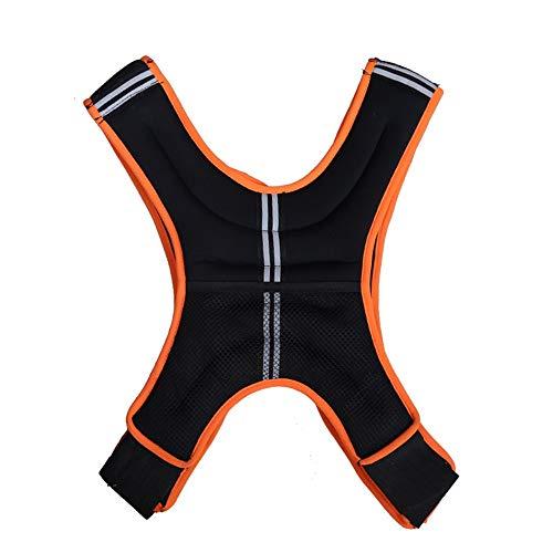 Ajustable chaleco con peso 5kg10kg chaleco del peso de la bolsa de arena de hierro Peso Sander Sander Ejecución de aptitud de los deportes Equipo Naranja para el entrenamiento de la aptitud de soporte