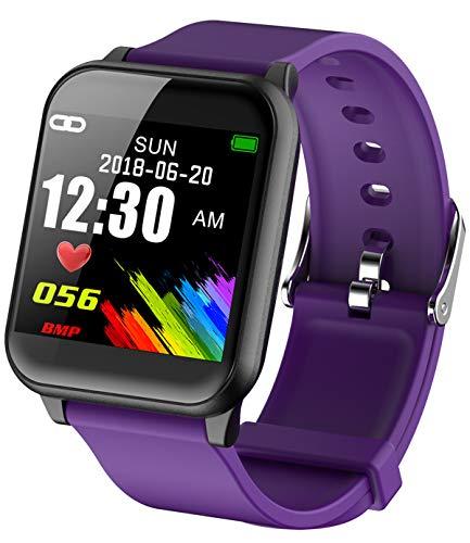 Monitor de frecuencia cardíaca, Monitor de presión Arterial, Reloj Inteligente para Android iOS, podómetro, Monitor de Actividad